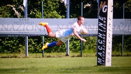 RUGBY-GRIFONI FIRST XV-ANTONELLI ALBERT-FLYING TRY