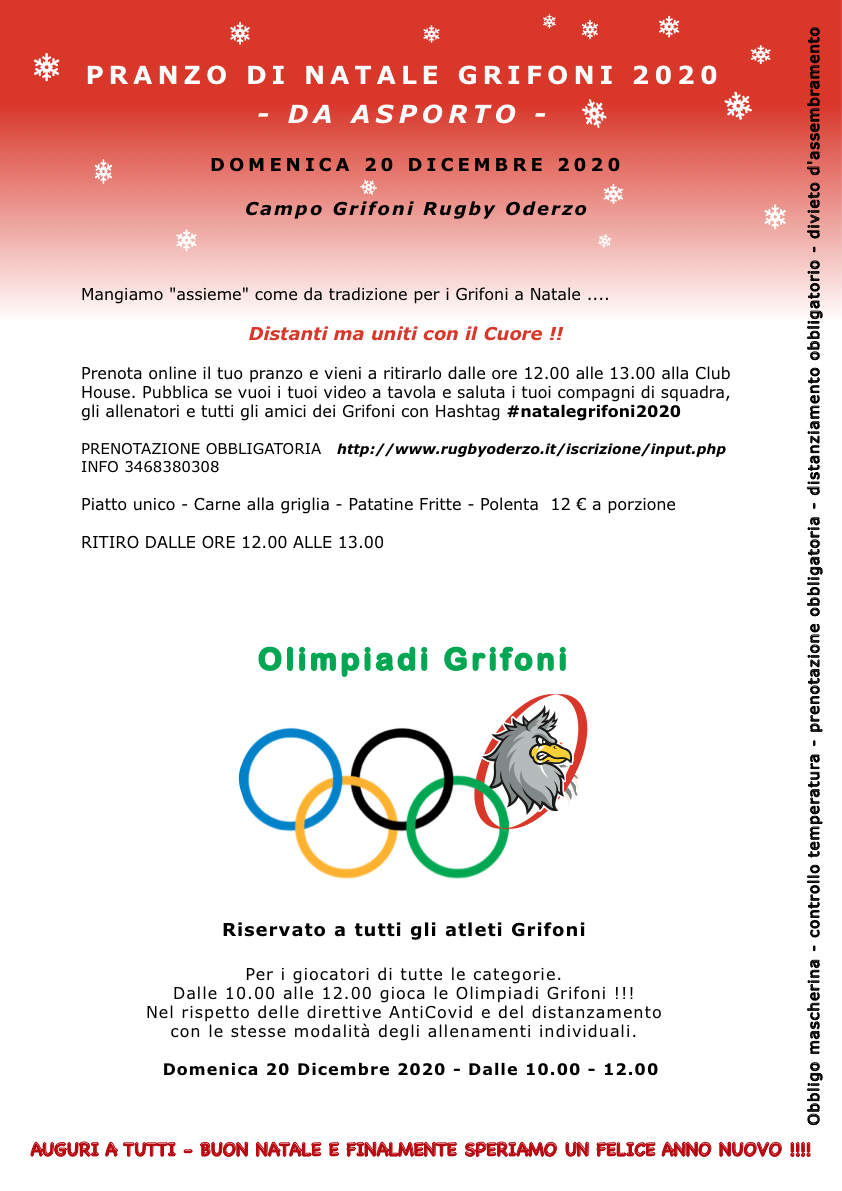 pranzo natale 2020 - olimpiadi grifoni
